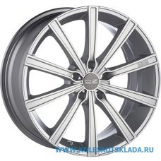 OZ Racing LOUNGE 10 8x18/5x100 D68 ЕТ35 Metal Silver Diamond Cut