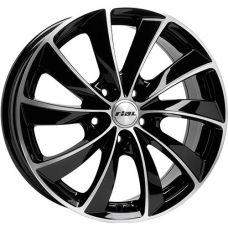 Rial Lugano 7.5x16/5x114.3 D70.1 ЕТ48 Diamond Black Front Polished