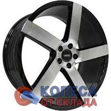 Vissol V-080L 8.5x19/5x100 D57.1 ЕТ45 Black With Machined Face