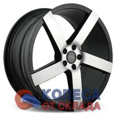 Vissol V-080R 8.5x19/5x114.3 D73.1 ЕТ15 Black With Machined Face