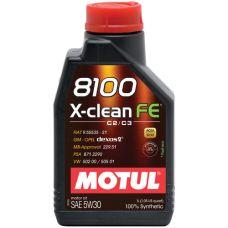 Масло моторное Motul 8100 X-clean FE 5W30 1л (art.104775)